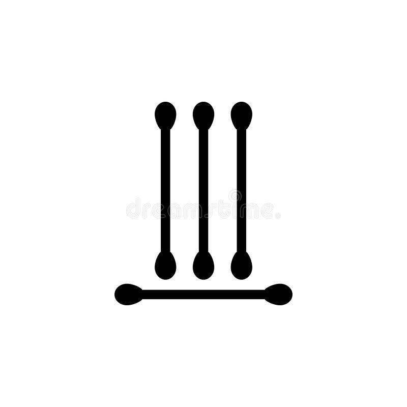 Icona Eared dei bastoni Icona dell'elemento di sauna e del bagno Progettazione grafica di qualità premio Segni, icona della racco royalty illustrazione gratis