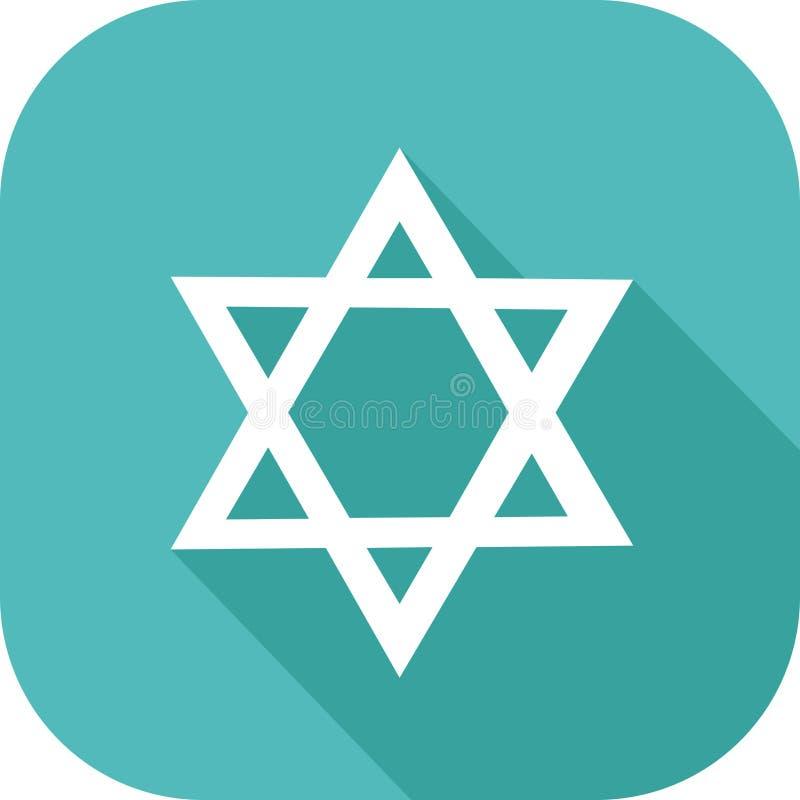 Icona ebrea di religione illustrazione di stock