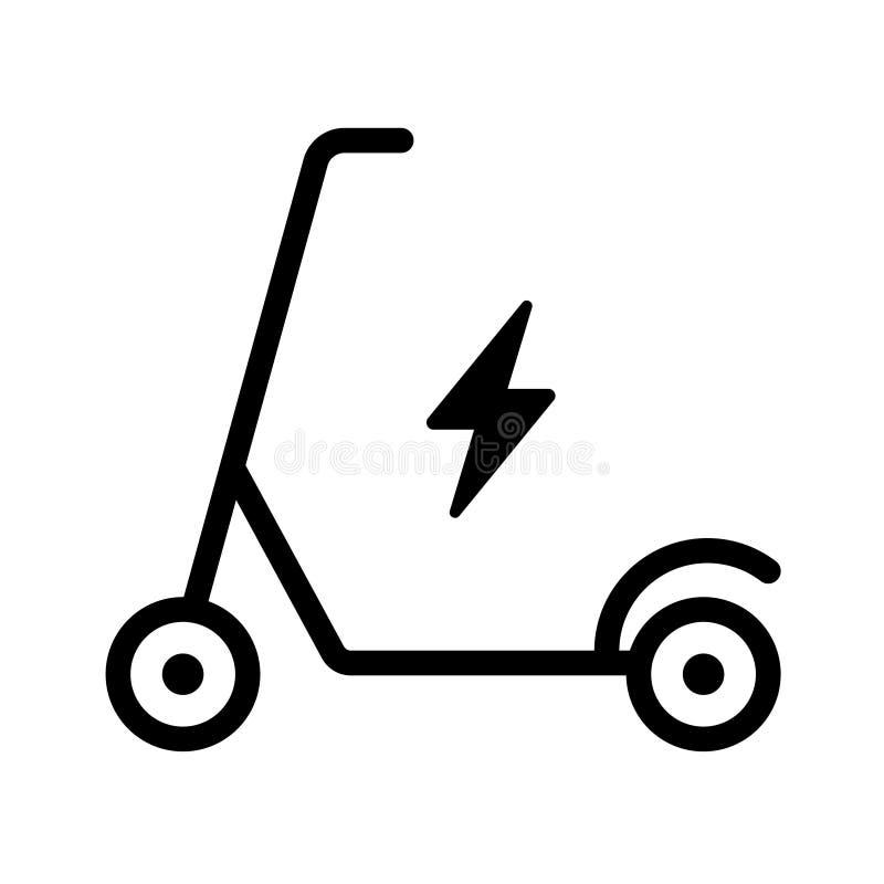 Icona ecologica del motorino su fondo bianco illustrazione di stock