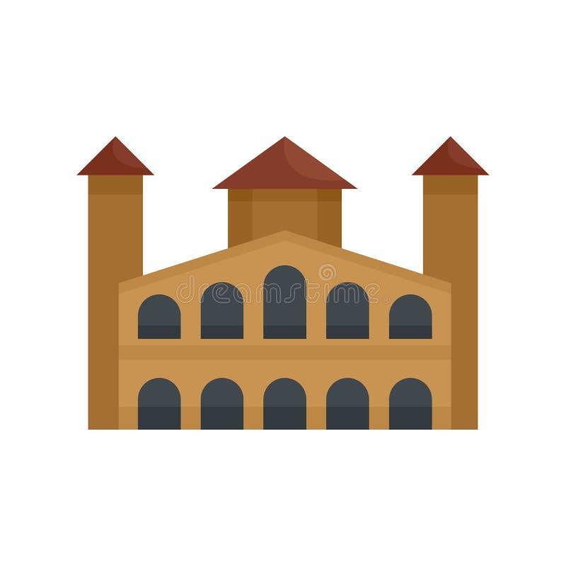 Icona edificio di Hystorical, stile piano illustrazione vettoriale