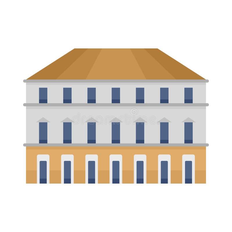 Icona edificio di Milano, stile piano royalty illustrazione gratis