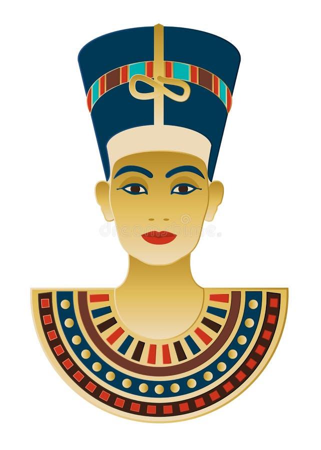 Icona egiziana Nefertiti illustrazione di stock