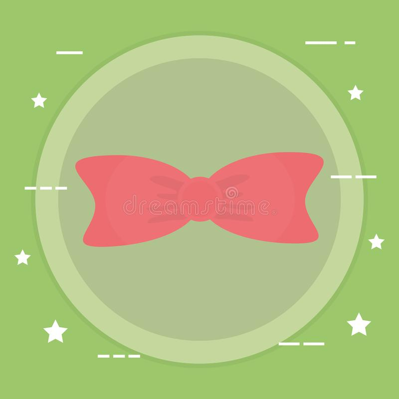 Icona elegante del nastro di cravatta a farfalla illustrazione vettoriale