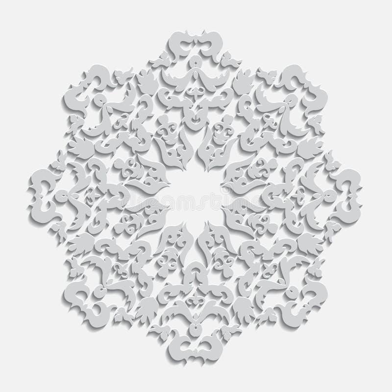 Icona elegante di carta di vettore del fiocco di neve di inverno fotografia stock