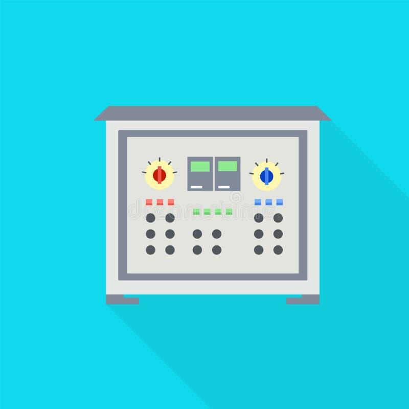 Icona elettrica del modulatore, stile piano illustrazione di stock