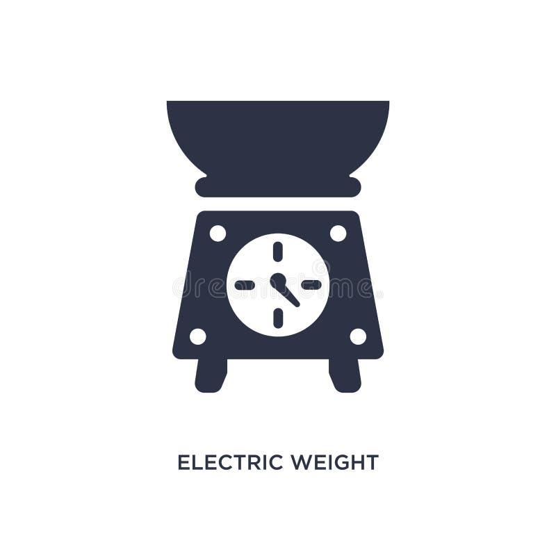 icona elettrica della bilancia su fondo bianco Illustrazione semplice dell'elemento dal concetto del ristorante e dei bistrot royalty illustrazione gratis