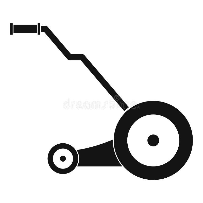 Icona elettrica della falciatrice, stile semplice illustrazione di stock