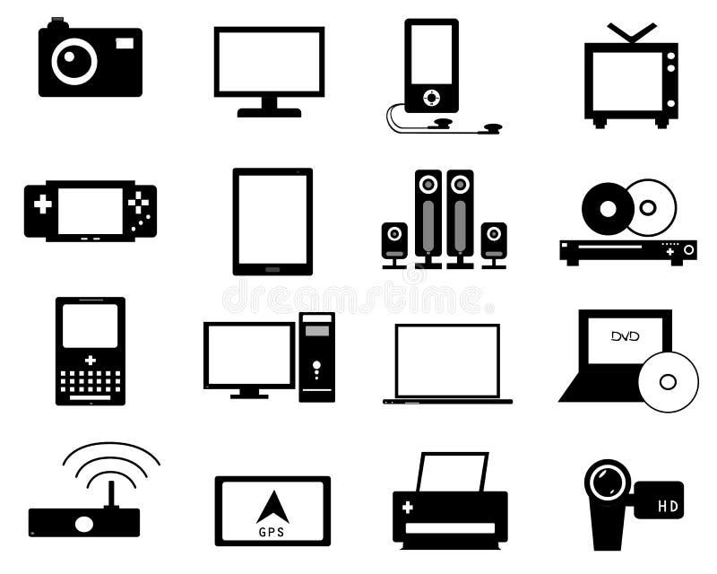 Icon Electronics Srinagar: Icona Elettronica Illustrazione Vettoriale. Immagine Di