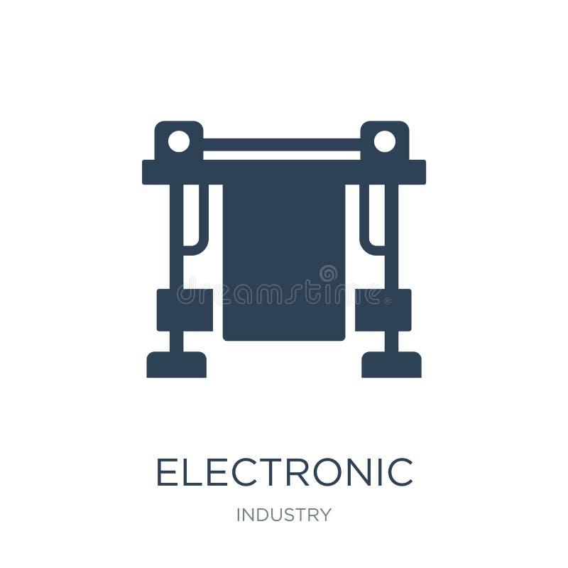 icona elettronica della macchina della stampa nello stile d'avanguardia di progettazione icona elettronica della macchina della s illustrazione vettoriale