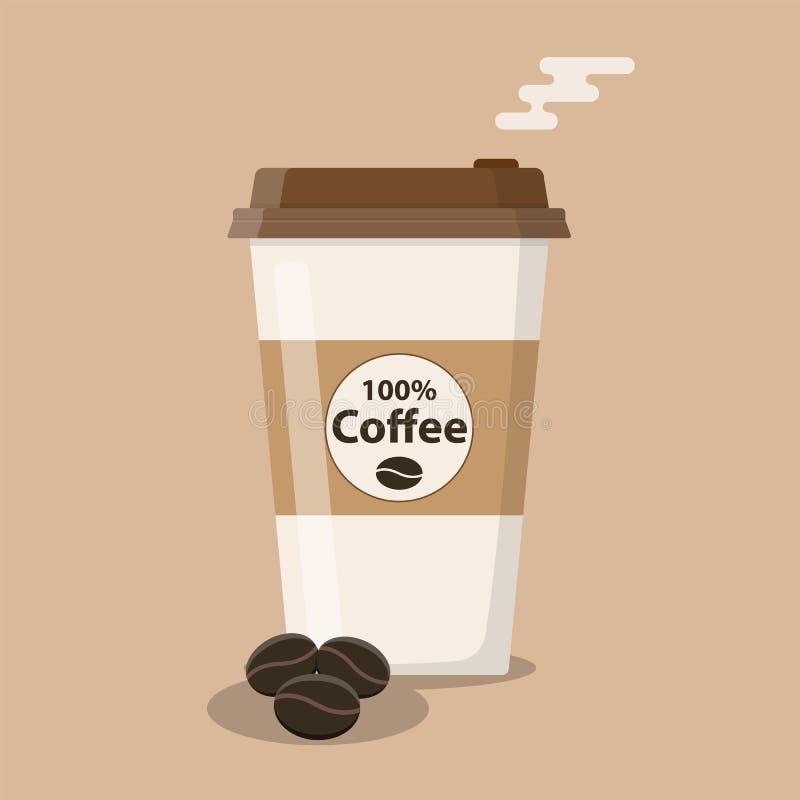 Icona eliminabile della tazza di caffè illustrazione vettoriale