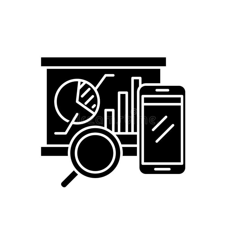 Icona equilibrata del nero dei segnapunti, segno di vettore su fondo isolato Simbolo equilibrato di concetto dei segnapunti, illu illustrazione di stock