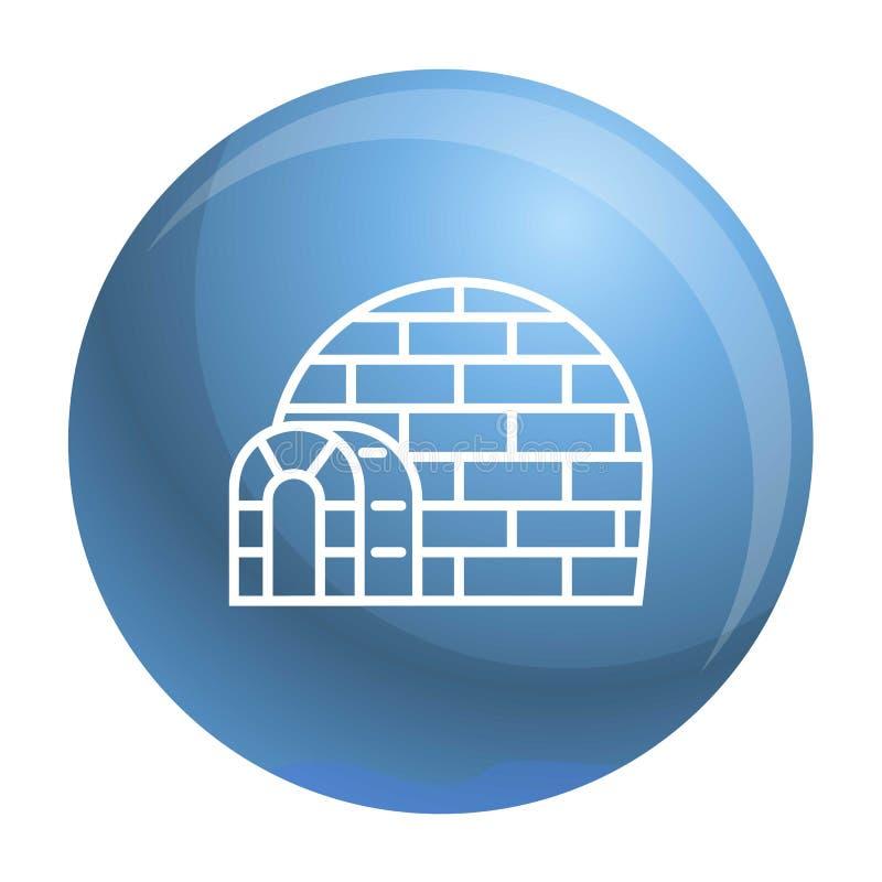 Icona eschimese dell'iglù, stile del profilo illustrazione vettoriale