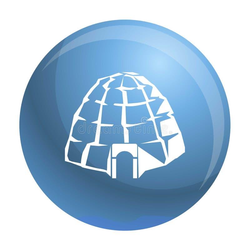 Icona eschimese dell'iglù, stile semplice illustrazione di stock