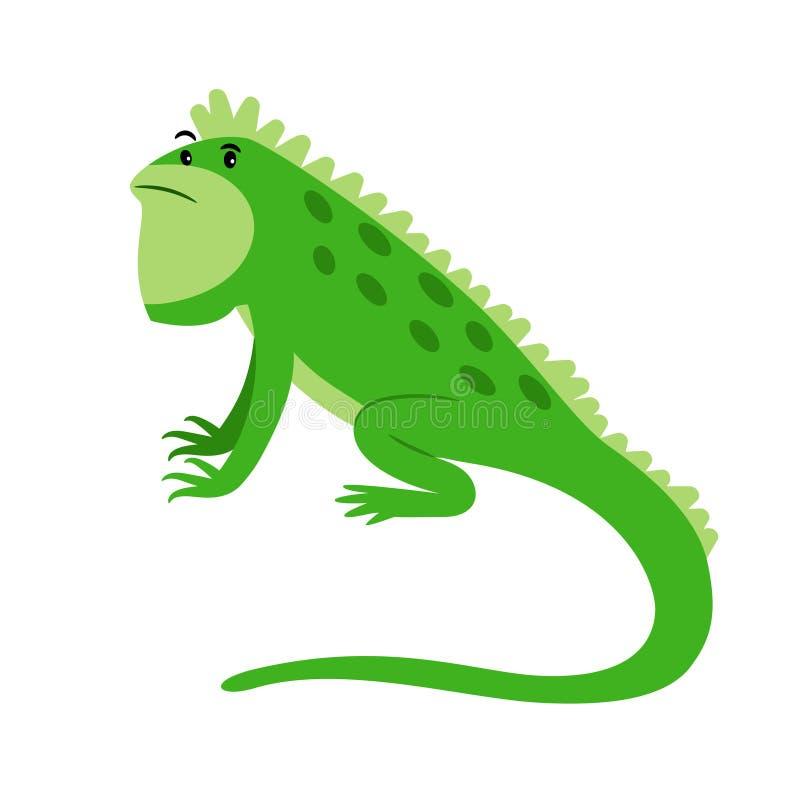 Icona esotica del fumetto del rettile dell'iguana illustrazione vettoriale