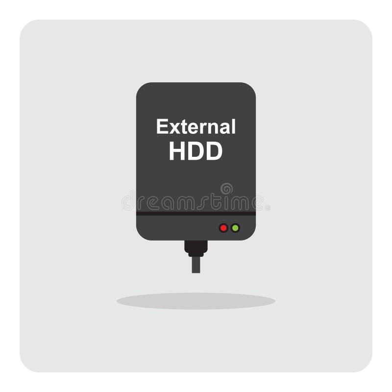Icona esterna del drive del hard disk illustrazione vettoriale