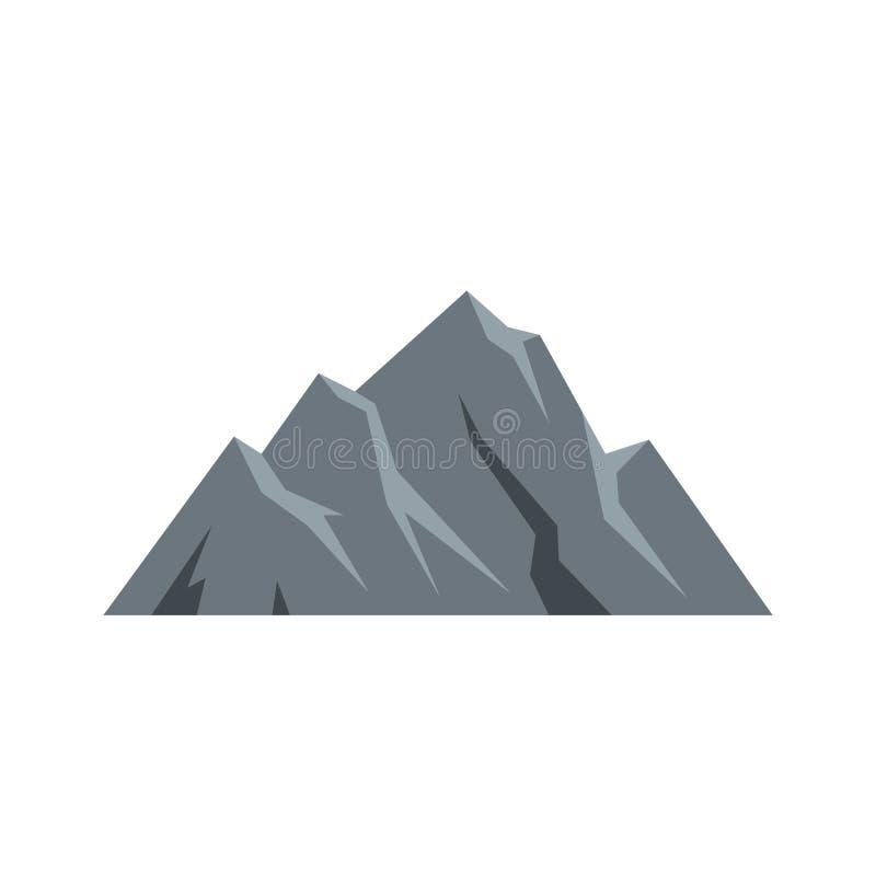 Icona estrema della montagna, stile piano illustrazione vettoriale