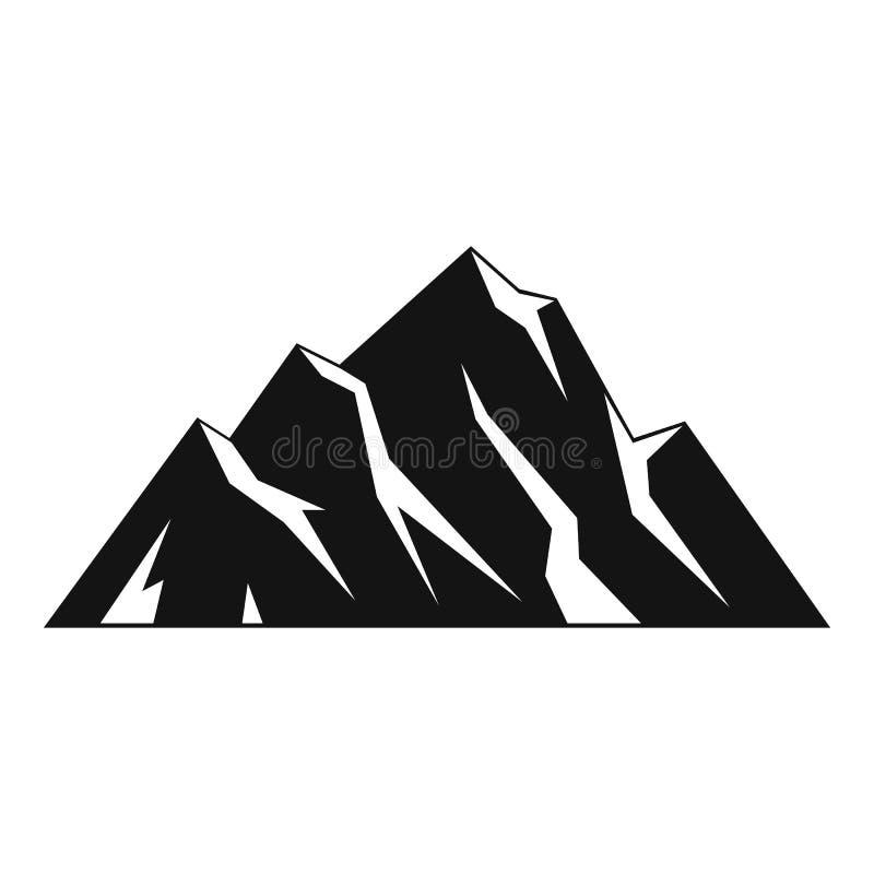 Icona estrema della montagna, stile semplice illustrazione di stock