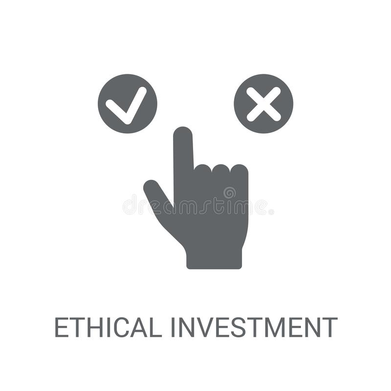 Icona etica di investimento  royalty illustrazione gratis