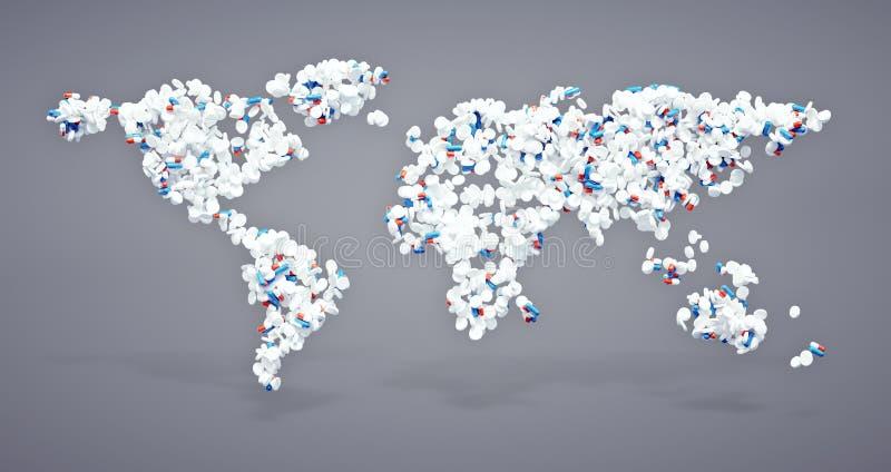 Icona farmaceutica del mondo illustrazione vettoriale