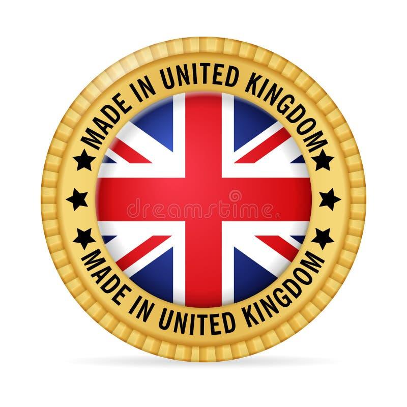 Icona fatta nel Regno Unito illustrazione vettoriale