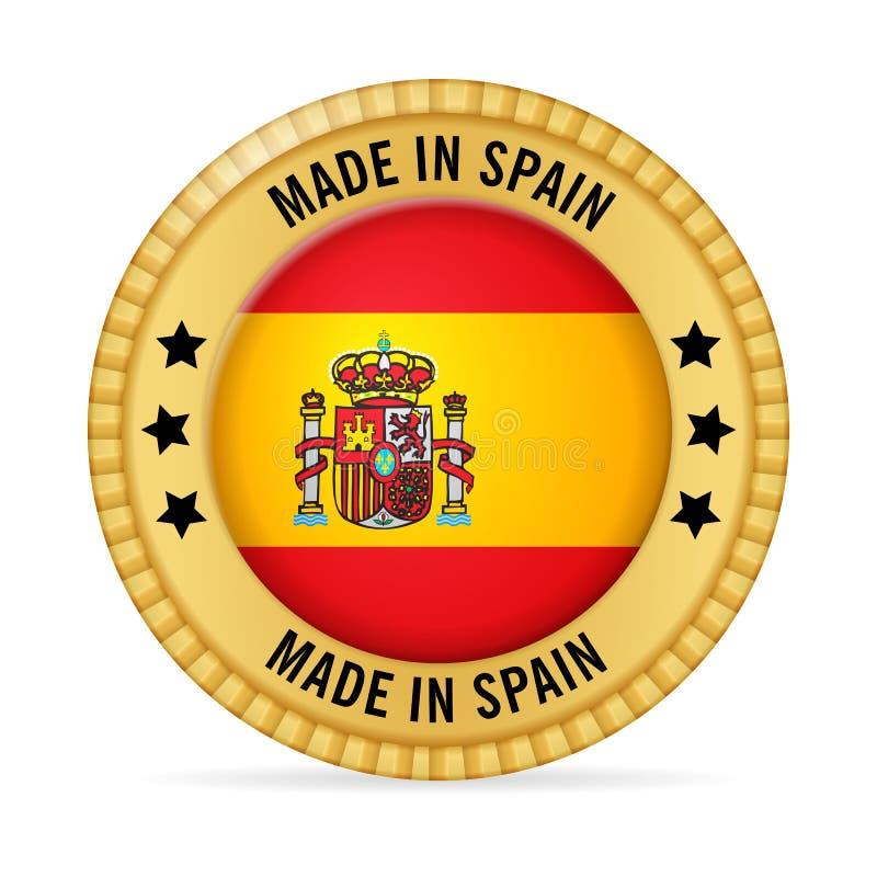 Icona fatta in Spagna illustrazione vettoriale