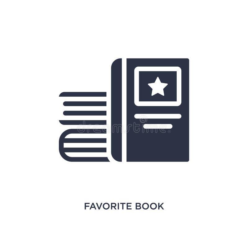 icona favorita del libro su fondo bianco Illustrazione semplice dell'elemento dal concetto di istruzione royalty illustrazione gratis