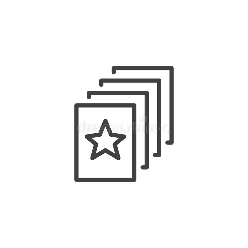 Icona favorita del profilo del documento royalty illustrazione gratis