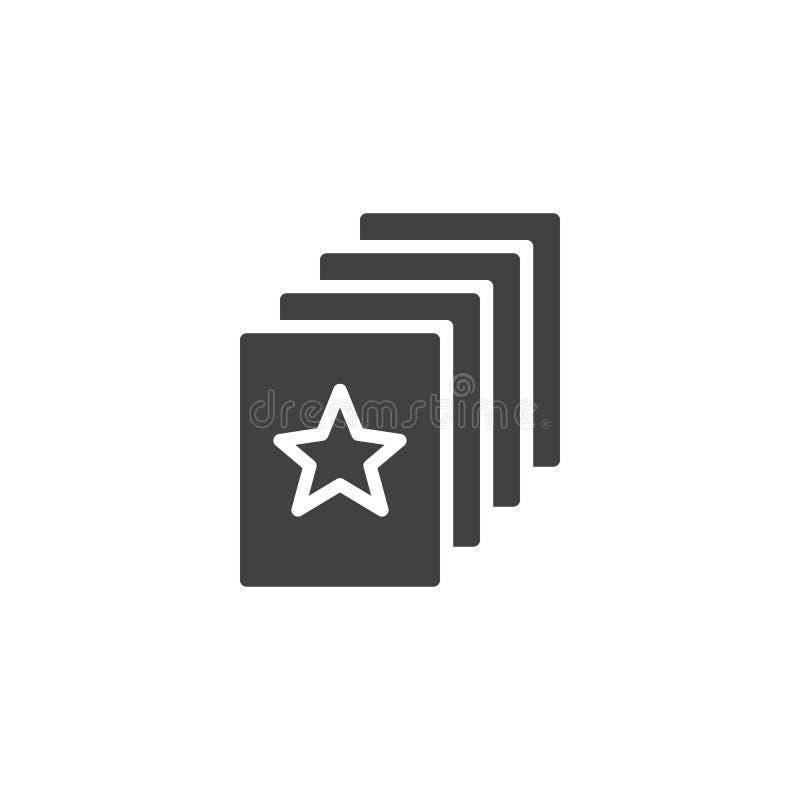 Icona favorita di vettore del documento illustrazione vettoriale