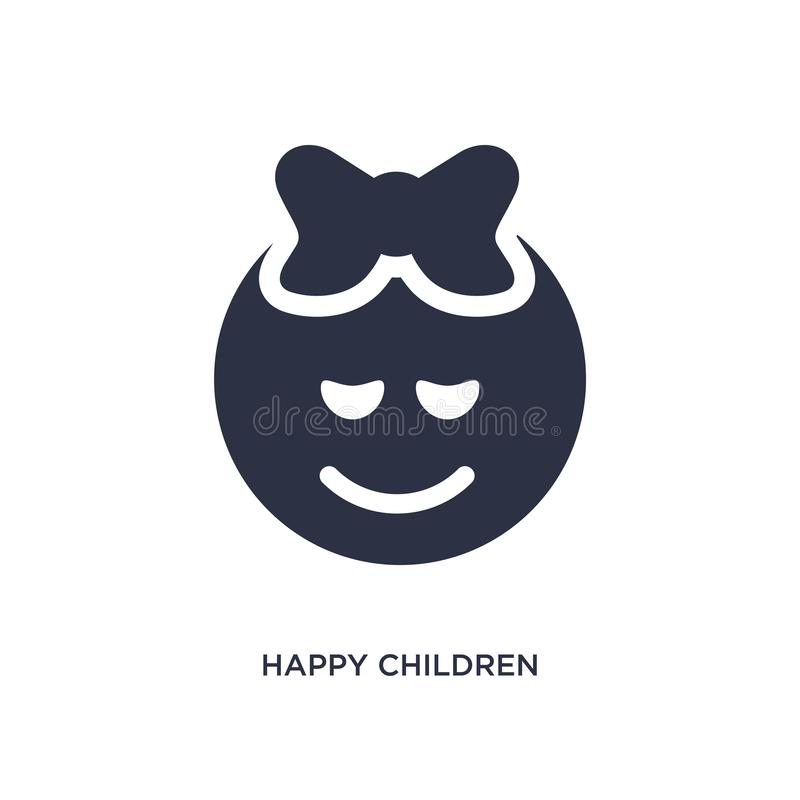 icona felice dei bambini su fondo bianco Illustrazione semplice dell'elemento dai bambini e dal concetto del bambino royalty illustrazione gratis