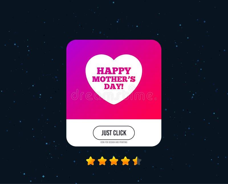 Icona felice del segno di giorno del ` s delle madri Simbolo della mamma Vettore illustrazione di stock
