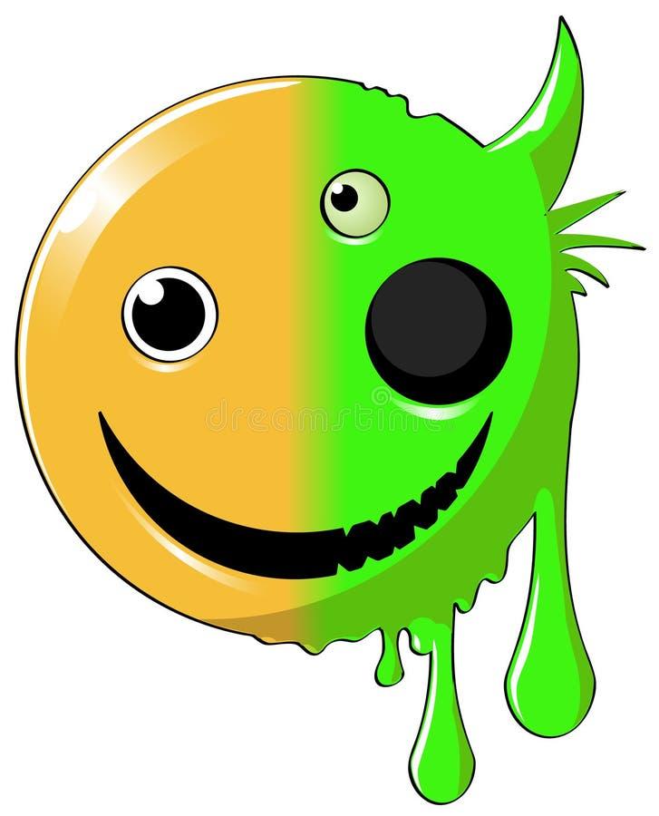Icona felice mutante illustrazione vettoriale