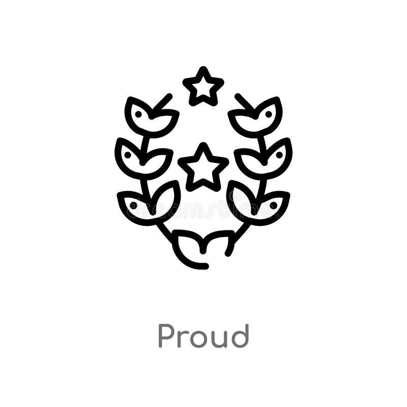 icona fiera di vettore del profilo linea semplice nera isolata illustrazione dell'elemento dal concetto di istruzione e di gradua illustrazione vettoriale