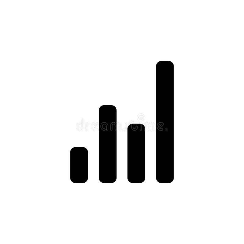 icona finanziaria del grafico Elemento dell'icona cripto di valuta per i apps mobili di web e di concetto L'icona finanziaria det royalty illustrazione gratis