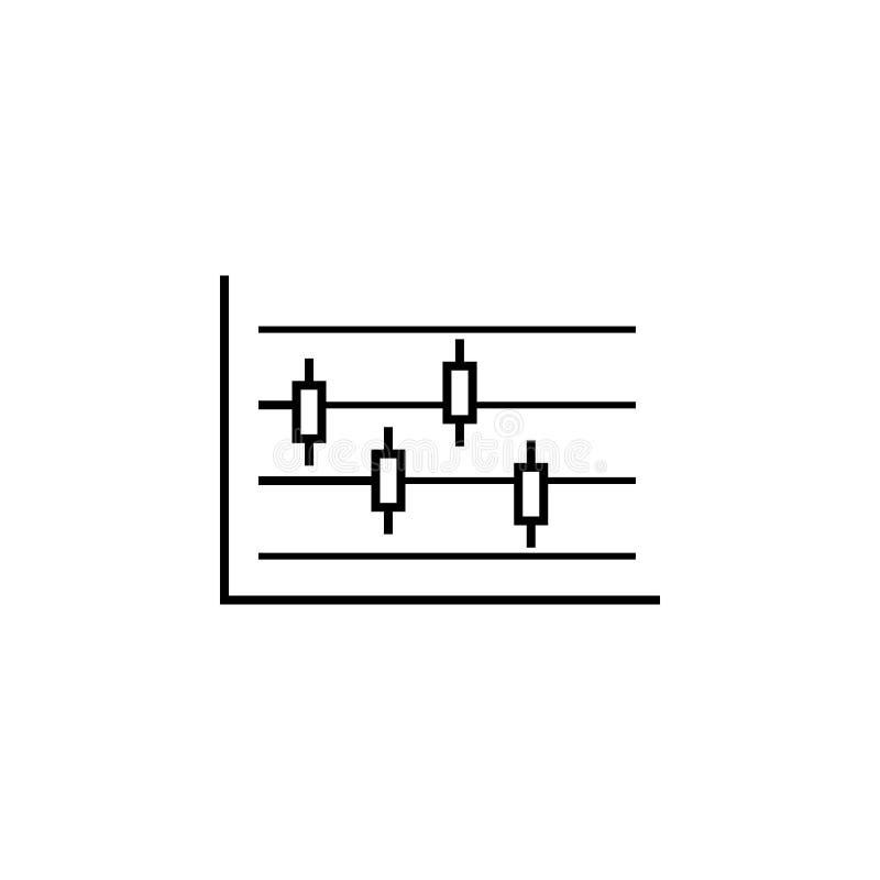 Icona finanziaria del profilo del grafico di affari Elemento dell'icona dell'illustrazione di finanza i segni, simboli possono es illustrazione vettoriale