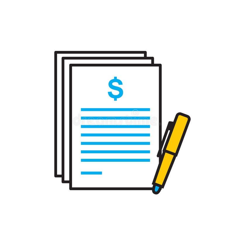 Icona finanziaria di rapporto su fondo bianco per il grafico ed il web design, segno semplice moderno di vettore Concetto del Int illustrazione vettoriale