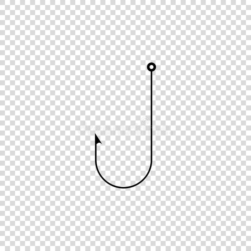 icona fisning di vettore del gancio su fondo vuoto illustrazione di stock