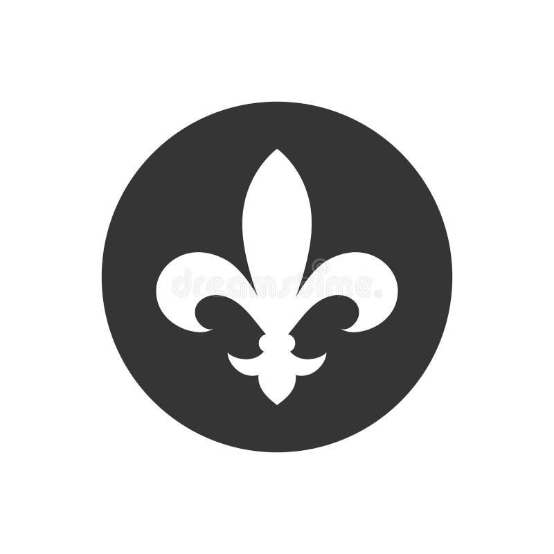 Icona Fleur de lis heraldic Stile piatto vettoriale royalty illustrazione gratis