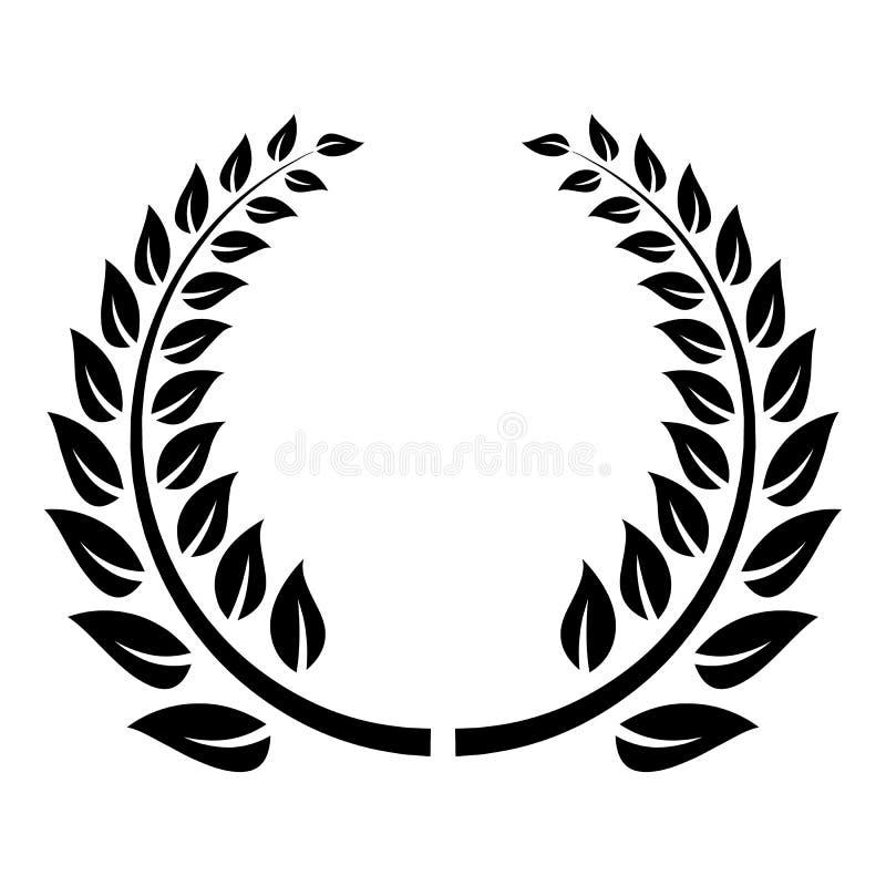 Icona floreale della corona, stile semplice illustrazione di stock