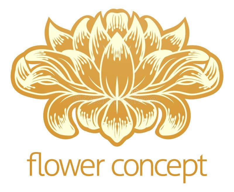 Icona floreale di concetto di progetto dell'estratto del fiore illustrazione di stock