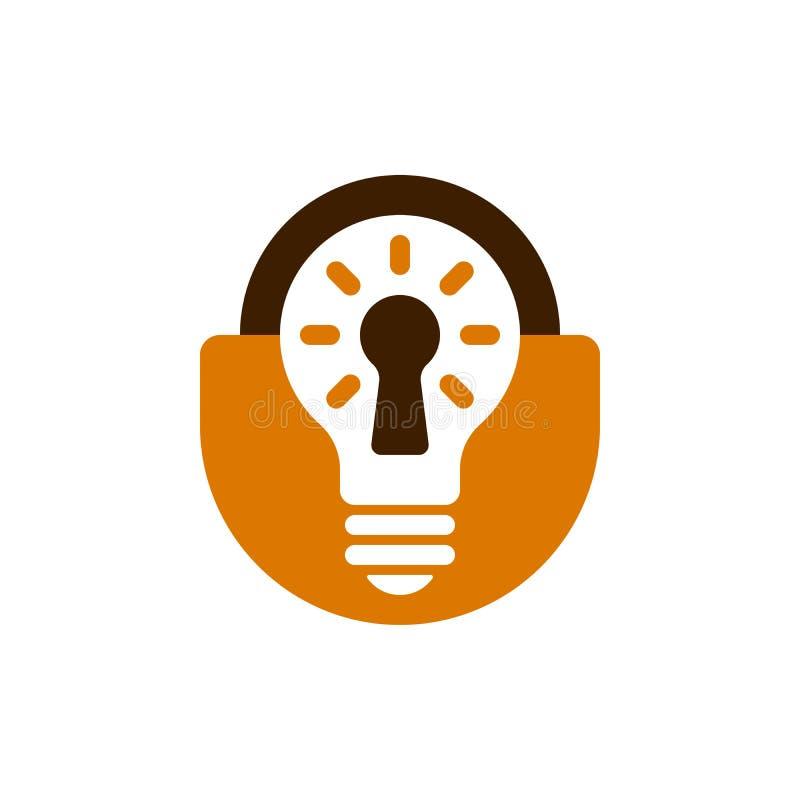 Icona a forma di della lampadina del lucchetto illustrazione vettoriale