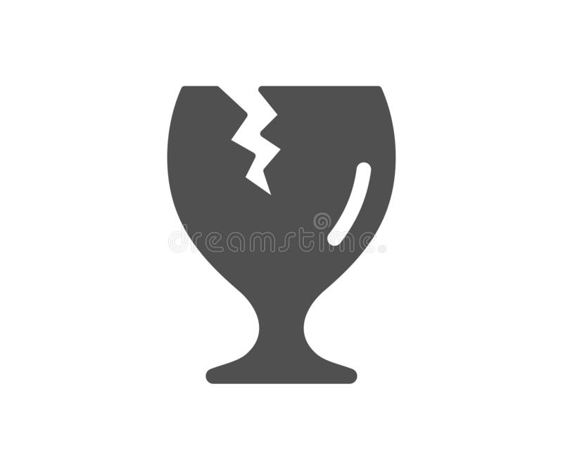 Icona fragile del pacchetto Servizio di distribuzione Vettore illustrazione di stock