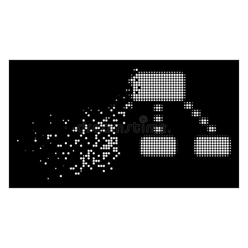 Icona fratturata luminosa di schema punteggiata semitono di Pixelated royalty illustrazione gratis