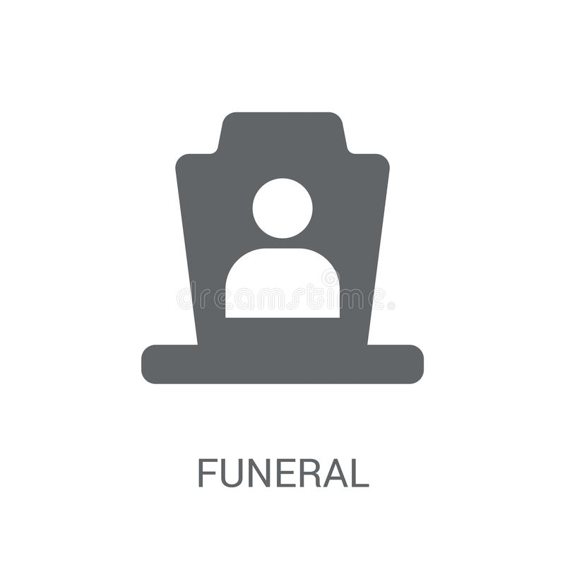 Icona funerea  illustrazione vettoriale