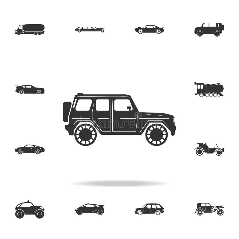 Icona fuori strada di lusso dell'automobile Insieme dettagliato delle icone di trasporto Progettazione grafica di qualità premio  illustrazione vettoriale