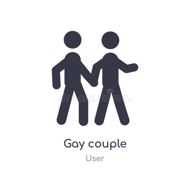 Icona gay delle coppie illustrazione gay isolata di vettore dell'icona delle coppie dalla raccolta dell'utente editabile canti il illustrazione di stock