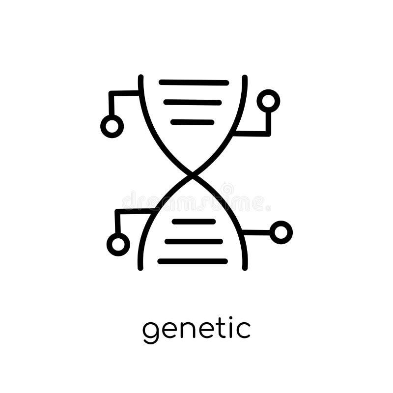 Icona genetica di modifica  illustrazione di stock