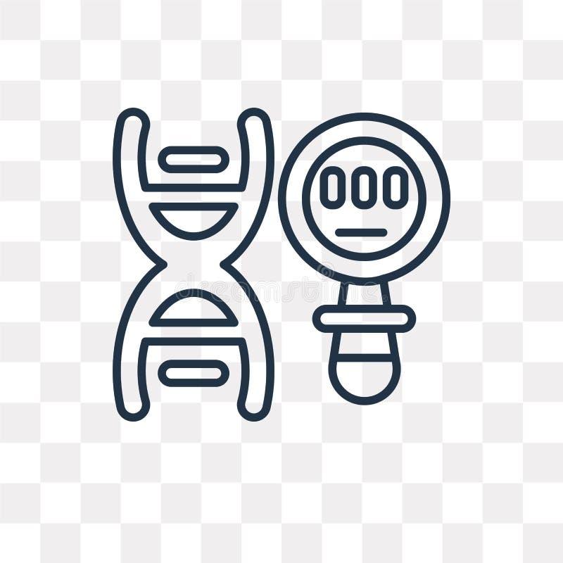 Icona genetica di vettore isolata su fondo trasparente, G lineare illustrazione di stock