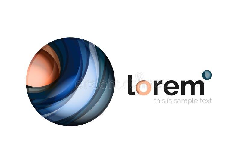 Icona geometrica di affari di vettore di convergenza illustrazione di stock