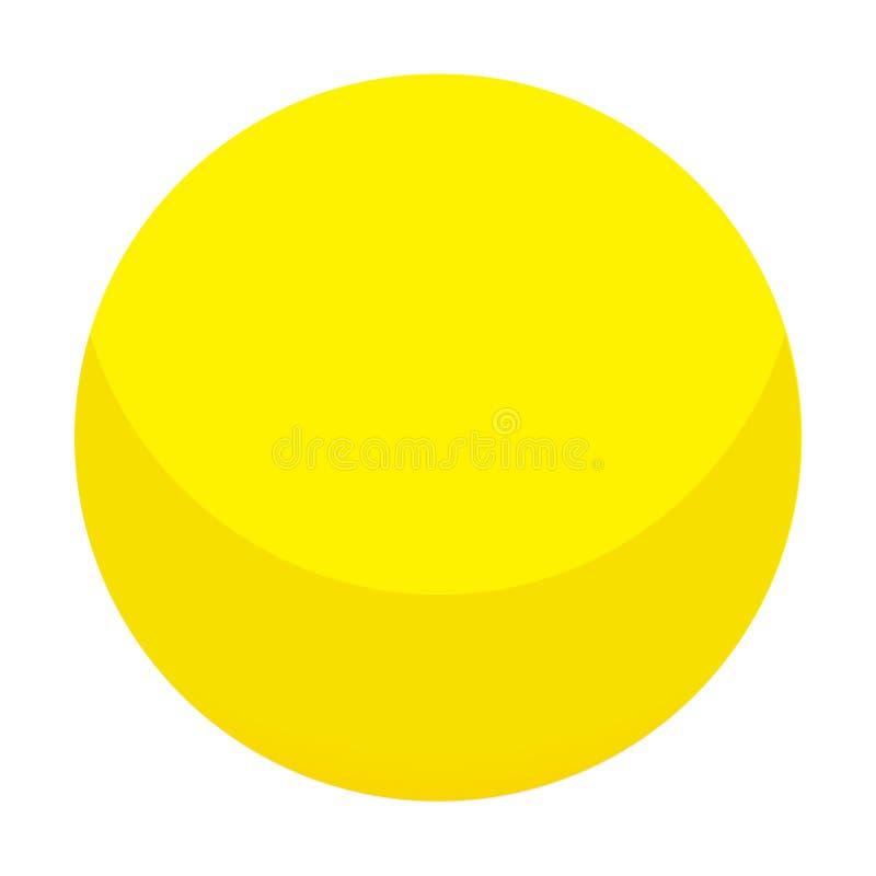 Icona gialla della palla della caramella, stile isometrico royalty illustrazione gratis