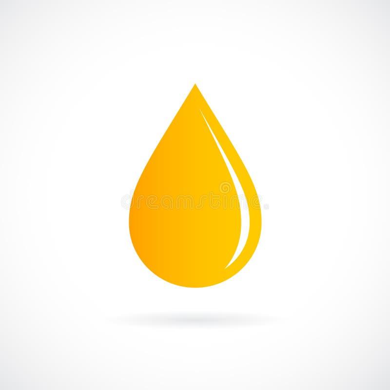 Icona gialla di vettore di goccia dell'olio illustrazione vettoriale